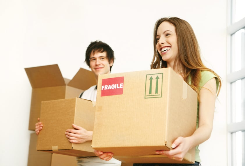 couple moving home image